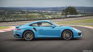 porsche blue 2016 porsche 911 turbo s coupe color miami blue side hd