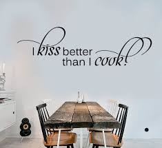 cool wall stickers vinyl decal kitchen quote housewife kiss better cool wall stickers vinyl decal kitchen quote housewife kiss better than i cook ig1393