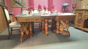 Antique Dining Room Sets Elaborately Carved Victorian Dining Room Table And Chairs And