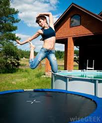 Trampoline Backyard What Are The Pros And Cons Of Backyard Trampolines