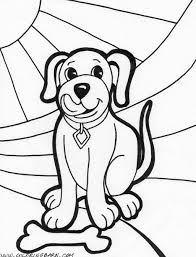 coloring pages kids dogs