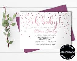 rustic baby shower invitation template baby shower