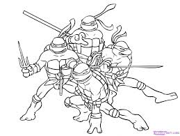 teenage mutant ninja turtles images color coloring pages kids