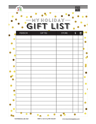 christmas gift list gift list free printables me my big ideas