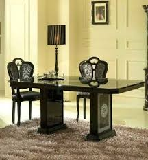 versace dining room table versace design black silver italian high gloss dining table 6