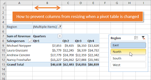 how do you refresh a pivot table how to stop pivot table columns from resizing on change or refresh
