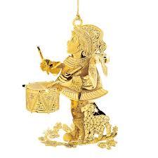 danbury mint drummer boy ornament gold and silver