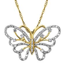 butterfly pendant necklace gold images 1 10 ct diamond butterfly pendant in 14k gold 1 10 ct diamond jpg