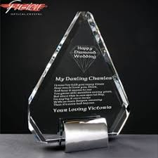 60th anniversary gift 60th diamond wedding anniversary gift glass engravers directory