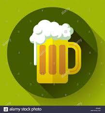 irish ginger beer st patricks day symbol vector icon flat
