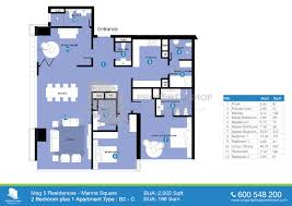 floor plan mag 5 residences marina square al reem island 2d floor plan 2 bedroom type b2 c area 2002