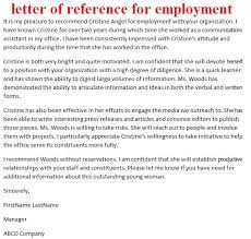sample work reference letter brilliant ideas of example employer