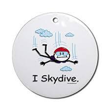 skydiver skydiving ornament co uk kitchen home