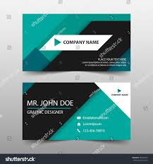 green corporate business card name card stock vector 583243039