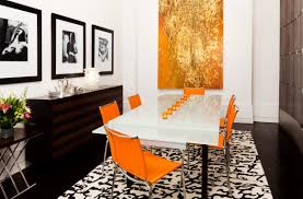 4 chic rooms black u0026 orange color schemes aren u0027t