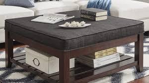 Espresso Ottoman Coffee Table Lennon Espresso Square Storage Ottoman Coffee Table By Inspire Q
