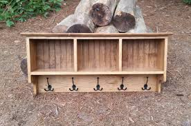 rustic coat rack cubby shelf