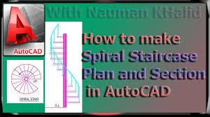 How To Make Spiral Staircase Plan And Section In Autocad Youtube