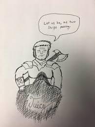 super rough sketch before work theadventurezone