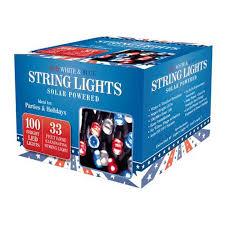 Red Solar Lights by Klt Outdoor Lighting 100 Led Solar String Red White Blue 33