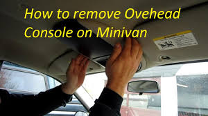 how to remove overhead console on caravan town and country youtube