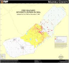 Garden Zone Map California - cal fire madera county fhsz map