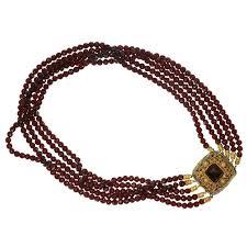 antique garnet bracelet images 200 years old dutch antique garnet necklace with gold filigree jpg