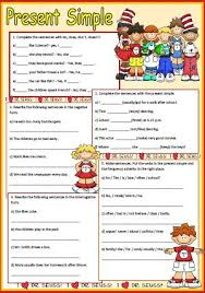 simple present tense worksheets esol pinterest worksheets