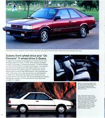 subaru leone sedan 1986 subaru gl u0026 dl 3 door vintage retro advertising
