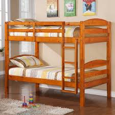 Cherry Bunk Bed Solid Wood Bunk Bed In Light Honey Cherry Finish