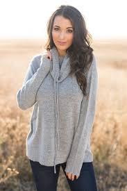 cowl sweater cowl neck sweater grey nanamacs boutique