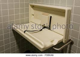 Folding Baby Change Table Folding Baby Changing Table In Public Restroom Usa Stock Photo
