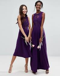lace jersey pleated maxi dress by asos wedding aubergine