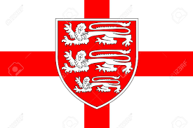 Flag Og England The Flag Of Saint George Of England With The Three British Lions