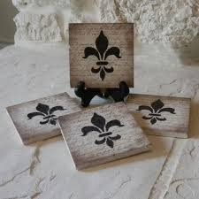 fleur de lis gifts craft ideas and more from davet designs sted tile coasters
