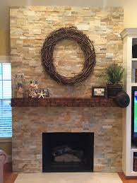 stacked stone veneer fireplace binhminh decoration