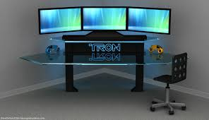 Awesome Gaming Desk Furniture Awesome Gaming Desk With Led Backlight Cool
