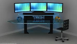 furniture amazing gaming desk design inspiration awesome tron gaming desk ideas