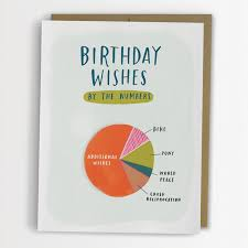 birthday wishes pie chart card funny birthday card no 139 c