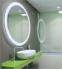 Ceiling Mounted Bathroom Mirrors by Illuminated Bathroom Mirrors White Finish Stained Wooden Door