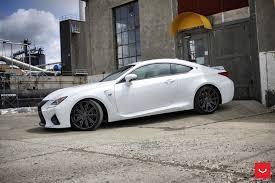 lexus rcf white vossen wheels lexus rcf vossen cv4
