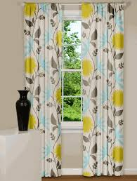 Curtains Blue Green Alluring Blue And Yellow Kitchen Curtains And Curtain Blue And