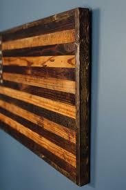 reclaimed barnwood rustic american flag pallet pinterest