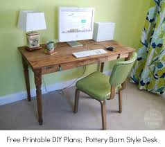 Pottery Barn Writing Desk by How To Build A Pottery Barn Style Farmhouse Desk The Borrowed