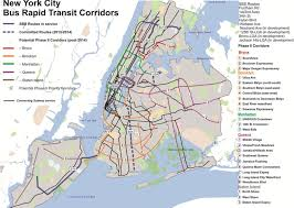 Map Of New York And Manhattan by Mta Maps A Five Borough Network For Select Bus Service