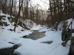 hyde park ny crum creek in the winter hyde park new york