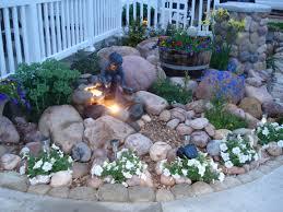 outdoor living easy small garden design with diy rock garden