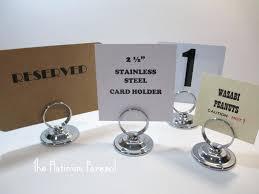 Diy Table Number Holders Objet Pave Sphere Place Card Holder Set Of 6 Gold A27000