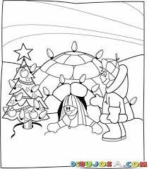 imagenes de navidad para colorear online dibujo de esquimales en navidad para colorear y pintar online
