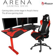 Gaming Desk And Chair by Arozzi Reveal Arena Gaming Desk Eteknix